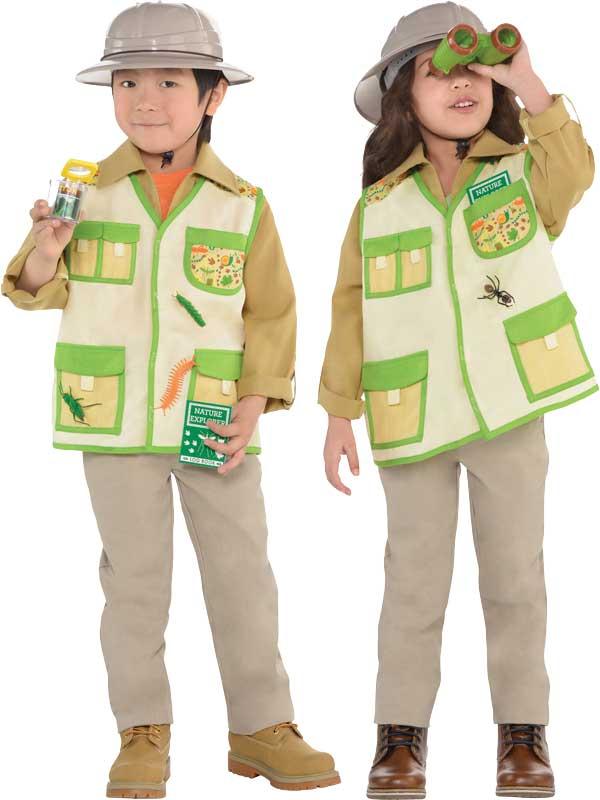 Childs Safari Explorer Costume Boys Zoo Keeper Jungle Fancy Dress Kids Outfit