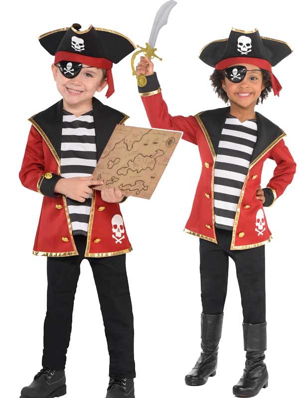 Three Child New Amazing Me Pirate Costume Kit