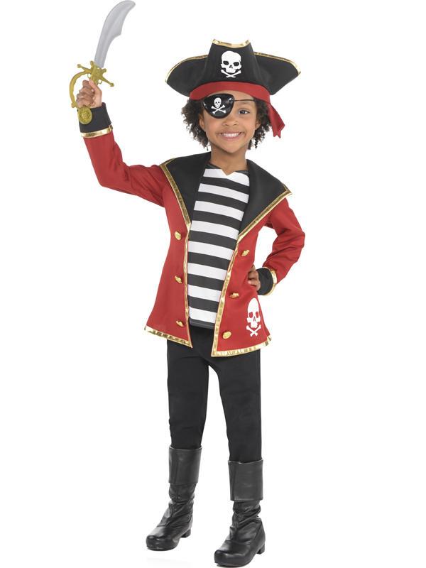 Three Child New Amazing Me Pirate Costume Kit Thumbnail 3
