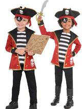 Three Child New Amazing Me Pirate Costume Kit