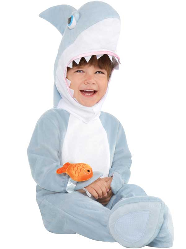 Child-Toddler-Baby-Shark-Attack-Fancy-Dress-Costume-  sc 1 st  eBay & Child Toddler Baby Shark Attack Fancy Dress Costume Book Week Jaws ...