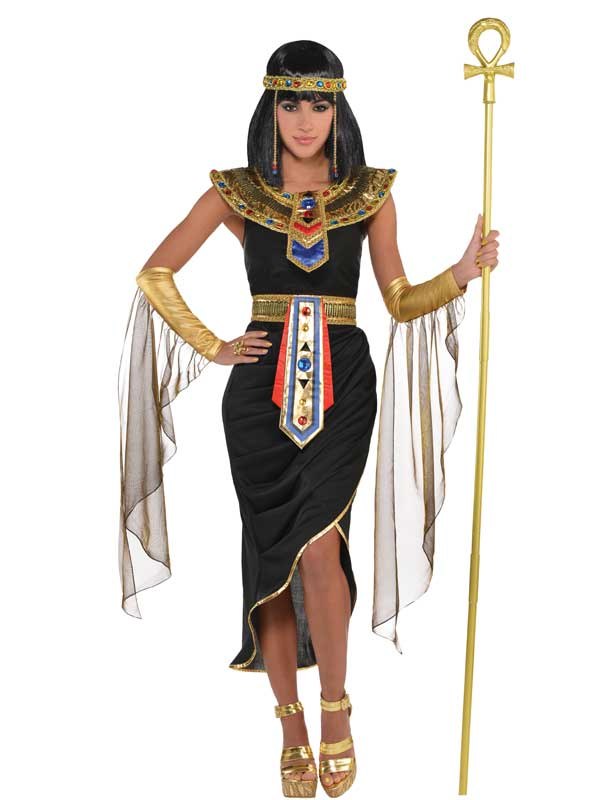 Adult-8-20-Egyptian-Queen-Black-Fancy-Dress-Costume-Ladies-Outfit-Toga-Cleopatra