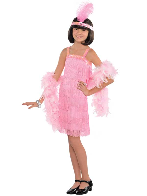 Child New Flapper Pink Costume
