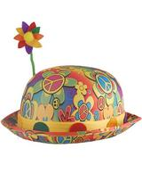Adult Hippy Bowler Hat with Flower