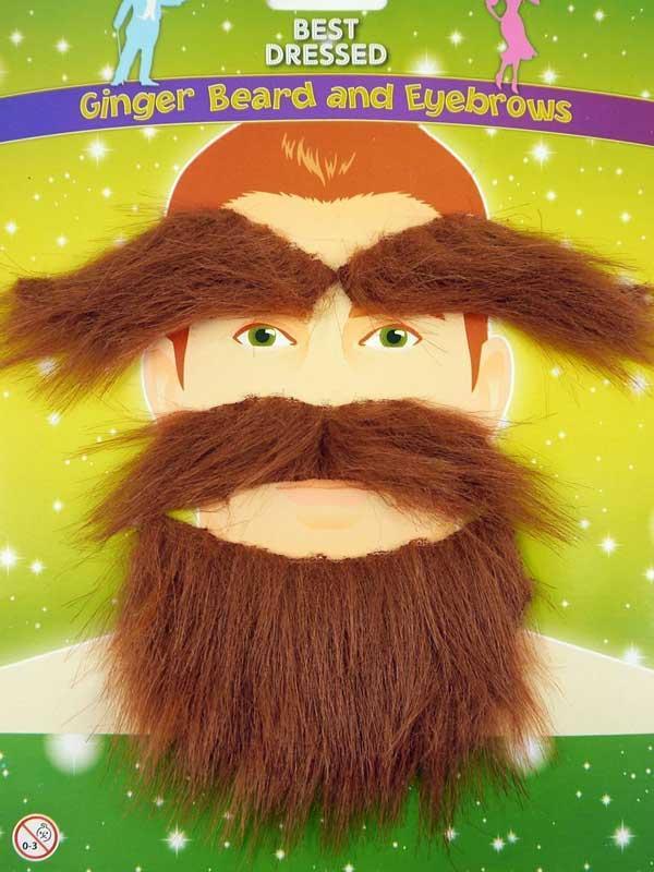 Adult Beard & Eyebrows Ginger