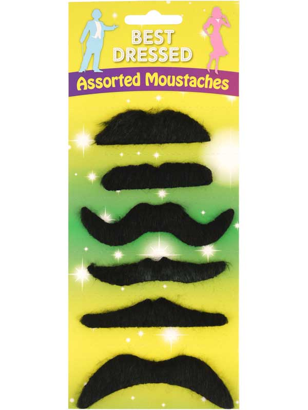 Adult Moustache Black