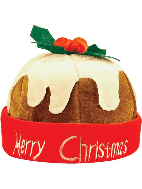 Adult Xmas Pudding Hat With Holly