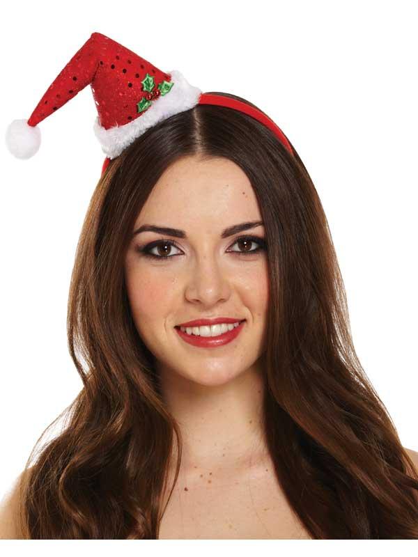 03da4ce023cbb Adult Ladies Headband Hat Mini Santa Hat