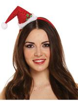 Adult Ladies Headband Hat Mini Santa Hat
