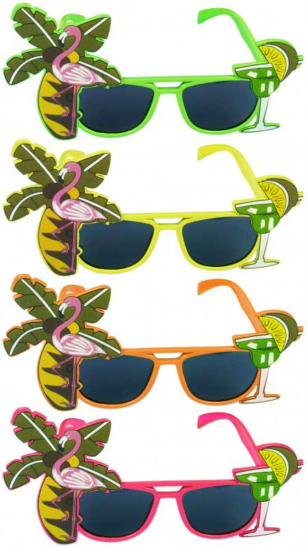 Dark Lens Flamingo Assorted Glasses
