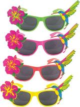 Dark Lens Tropical Assorted Glasses