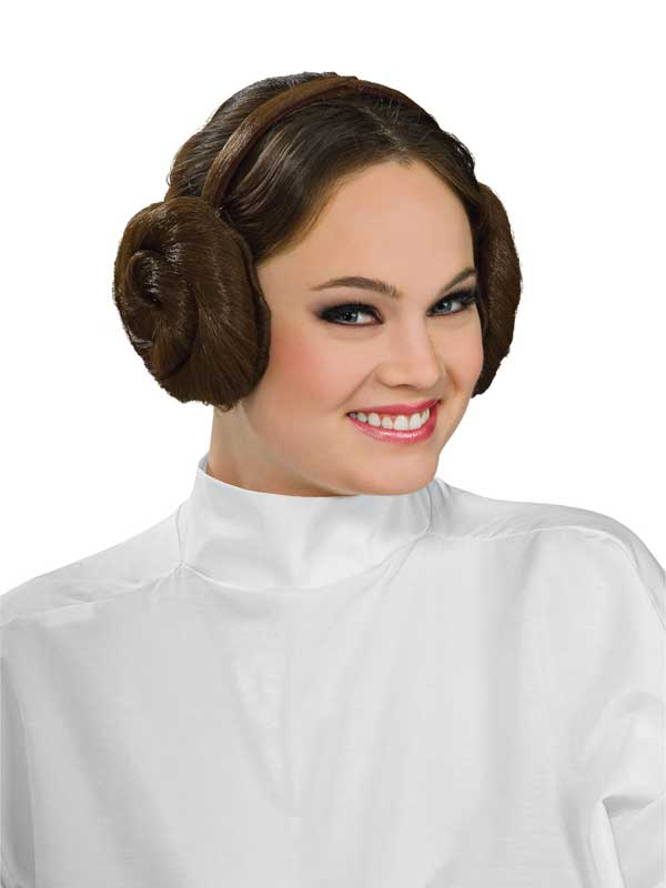 Adult Ladies Princess Leia Head Band With Hair Buns