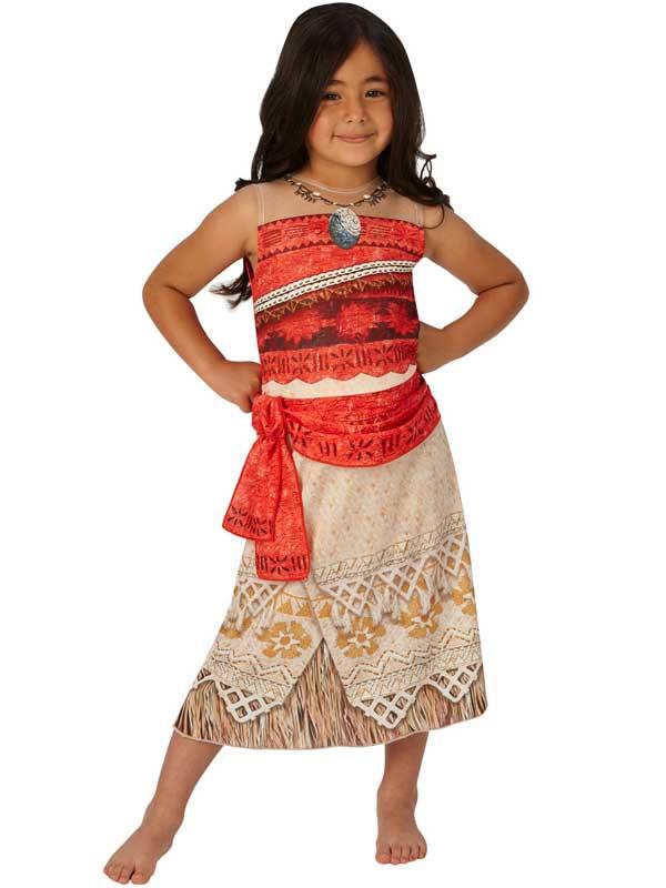 Detalles De Niñas Princesa Disney Classic Moana Disfraz Hawaiano Vestido De Fantasía Traje De Día Del Libro Ver Título Original
