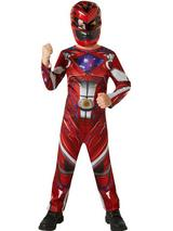 Child Red Power Rangers Movie Costume