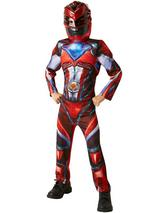 Child Red Deluxe Power Rangers Movie Costume