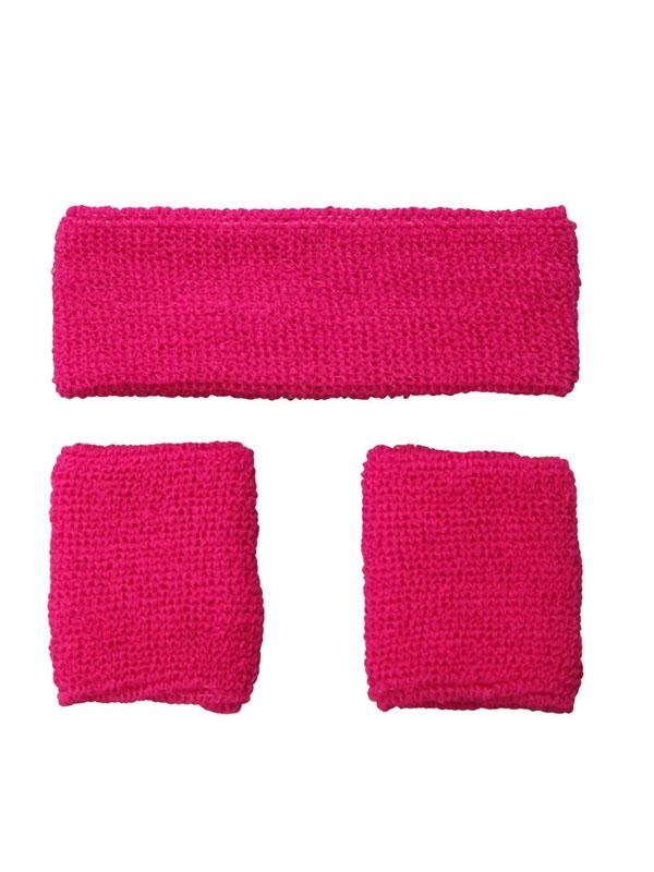 Sweatband & Wristband Neon Pink