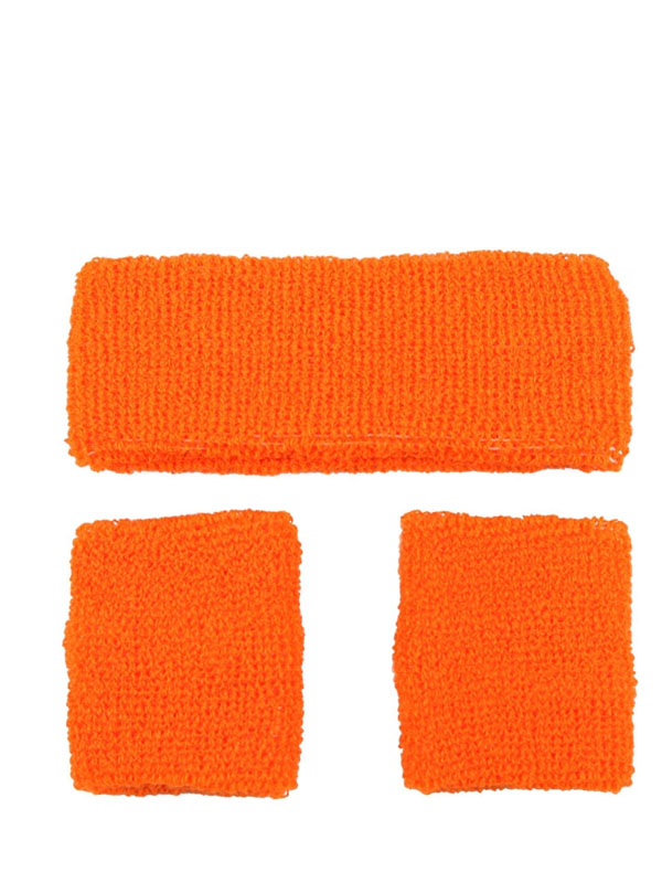 Sweatband & Wristband Neon Orange