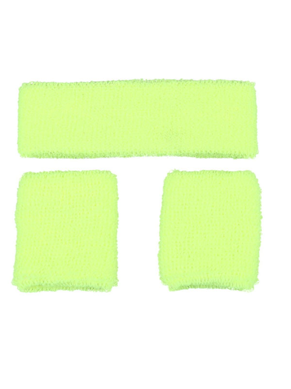 Sweatband & Wristband Neon Yellow