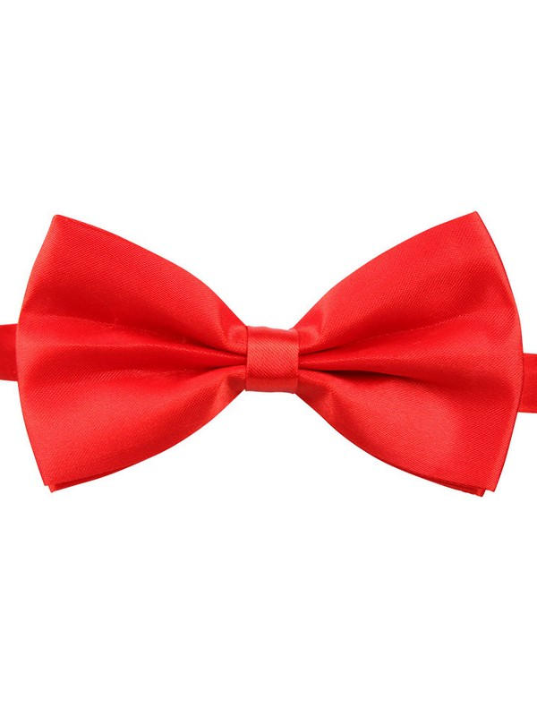Red Bow Tie With Adjustable Strap
