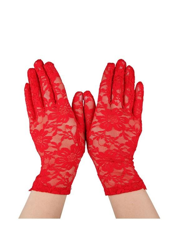 Red Lace Gloves