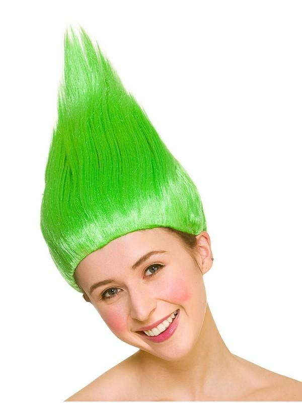Adult Ladies Green Troll Wig