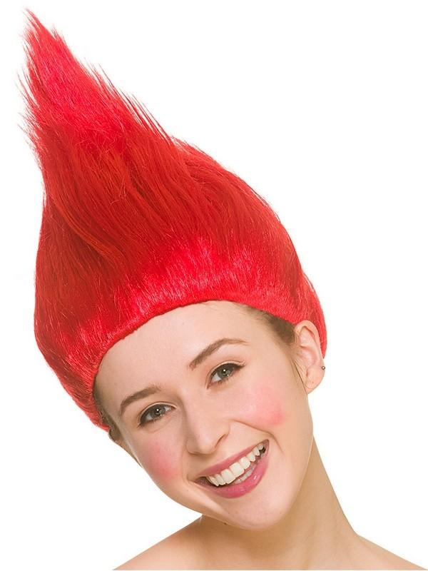 Adult Ladies Red Troll Wig