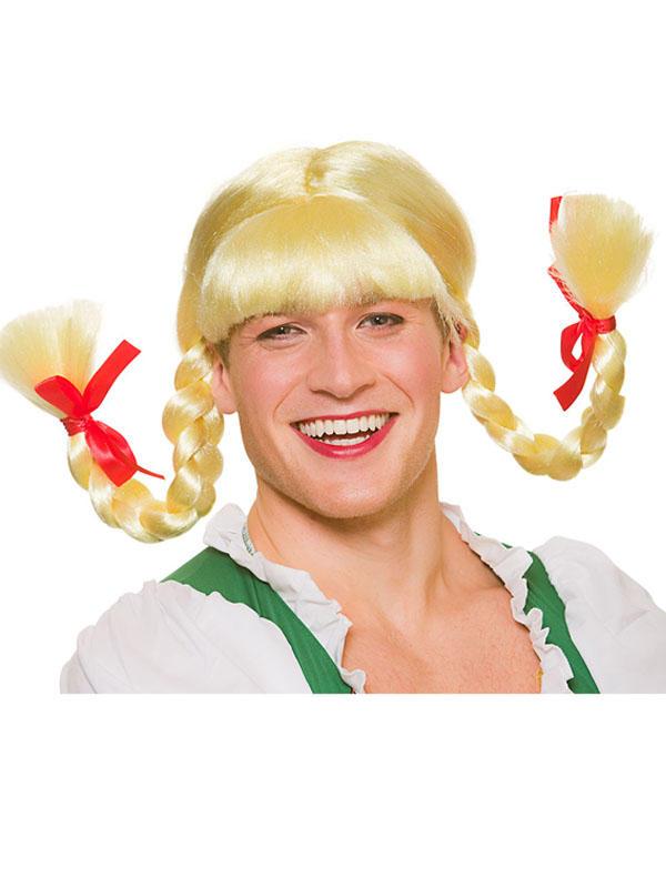 Adult Mens Funny Bavarian Beergirl Wig Thumbnail 1