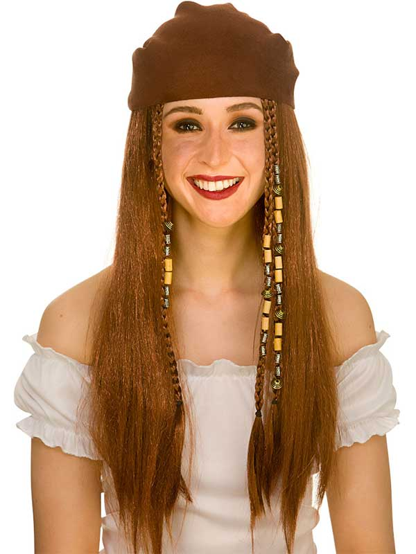 Adult Ladies Deluxe Pirate Wig & Bandana