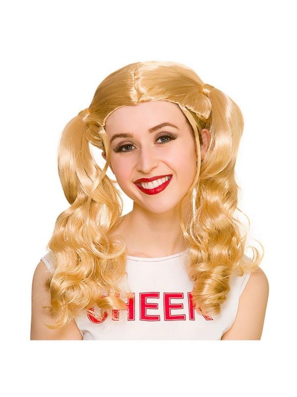 Adult Ladies Cheerleader Wig