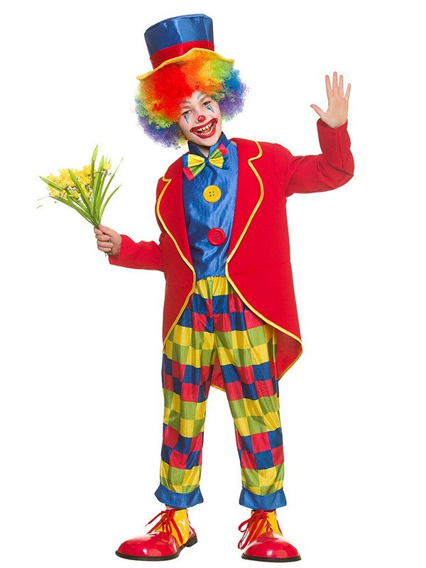 Enfant-Carnaval-Clown-Fancy-Dress-Costume-Circus-Jester-  sc 1 st  eBay & Child Carnival Clown Fancy Dress Costume Circus Jester Kids Boys ...