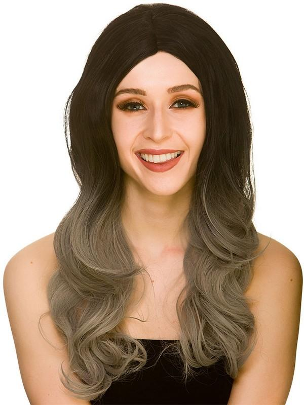 Adult Ladies Ombre Wig Black Grey