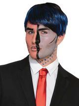Adult Pop Art Face Tattoo