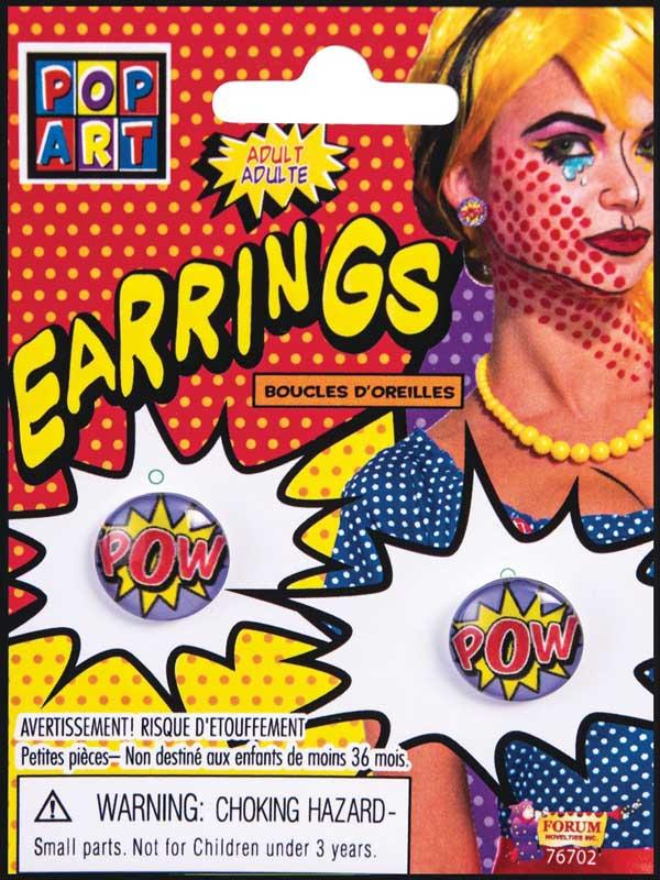 "Pop Art ""Pow"" Earrings Thumbnail 1"