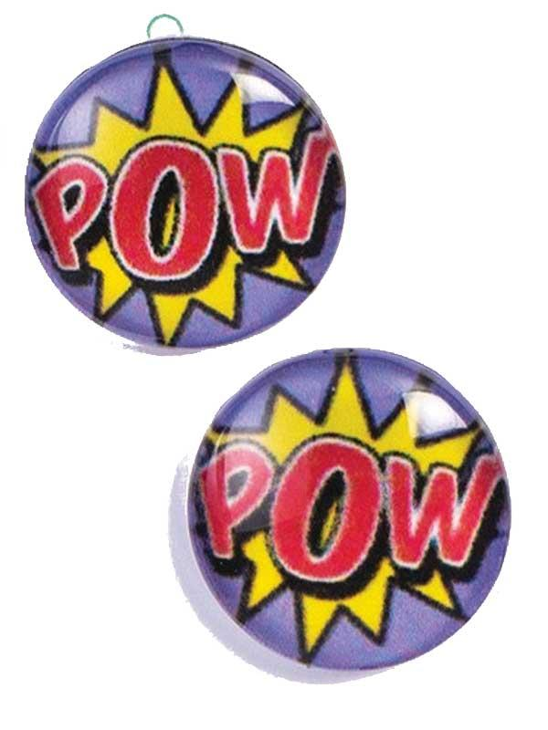 "Pop Art ""Pow"" Earrings Thumbnail 2"