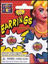 """Pop Art """"Pow"""" Earrings"""