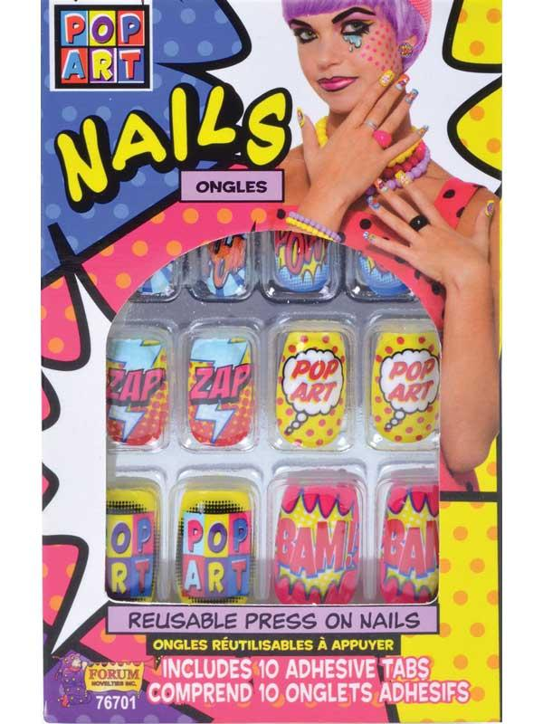 Pop Art Finger Nails Thumbnail 1