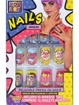 Pop Art Finger Nails