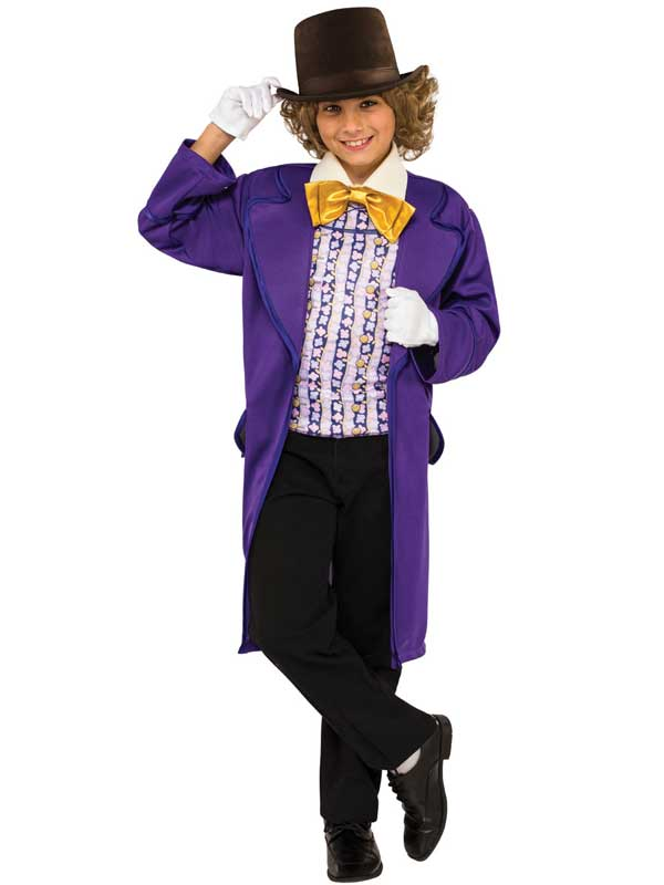 Child Willy Wonka Costume & Hat