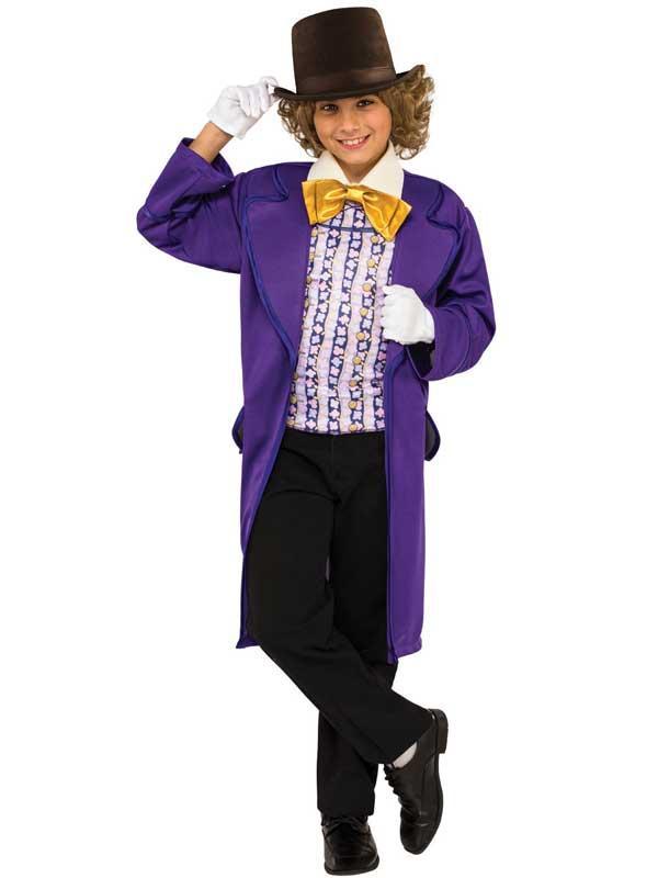 Child Willy Wonka Costume & Hat