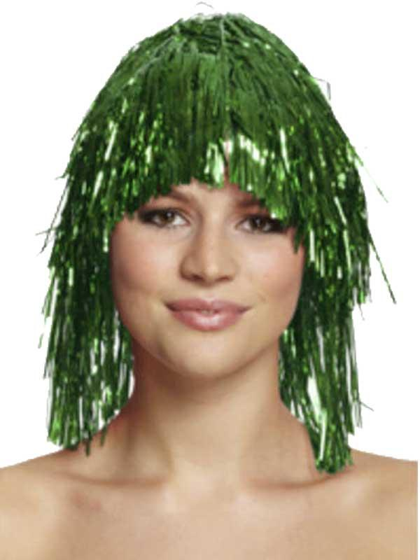 Adult Tinsel Wig Blue Thumbnail 4