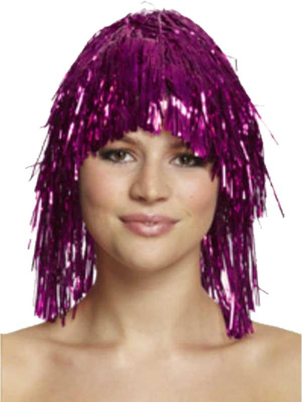 Adult Tinsel Wig Blue Thumbnail 5