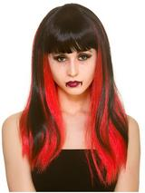Adult Ladies Dark Fantasy Wig Black Red