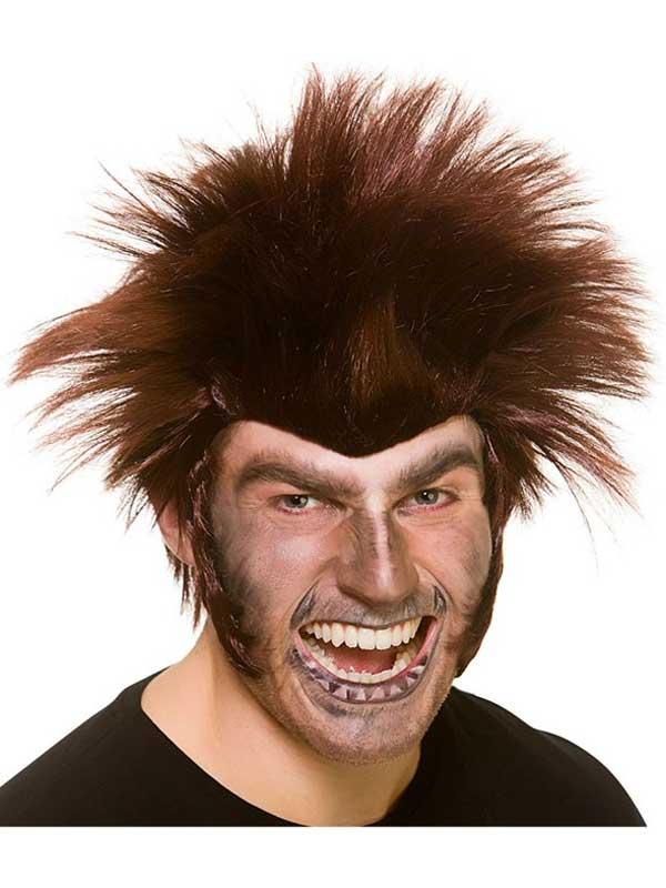 Adult Mens Midnight Werewolf Wig