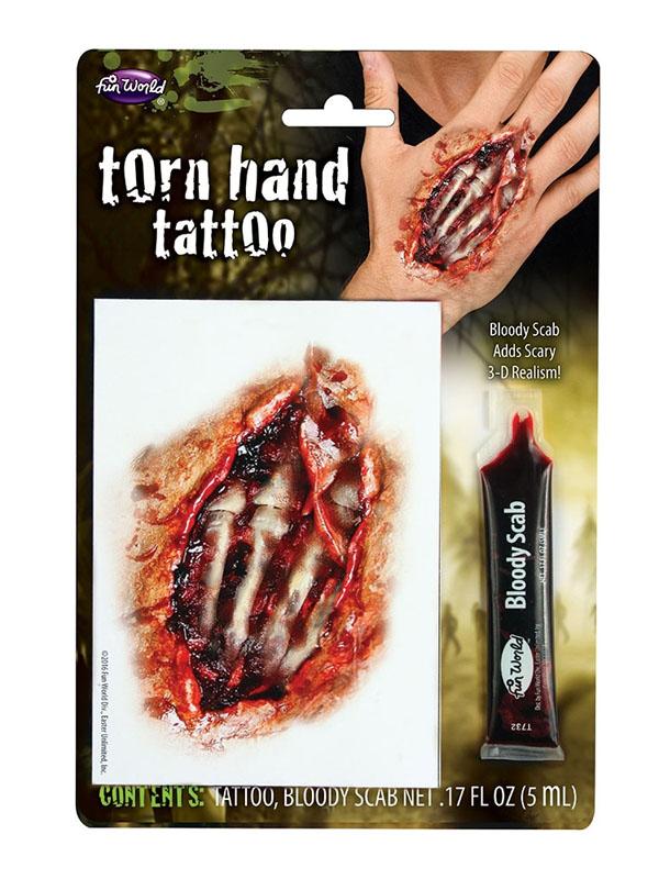 Torn Hand Tattoo