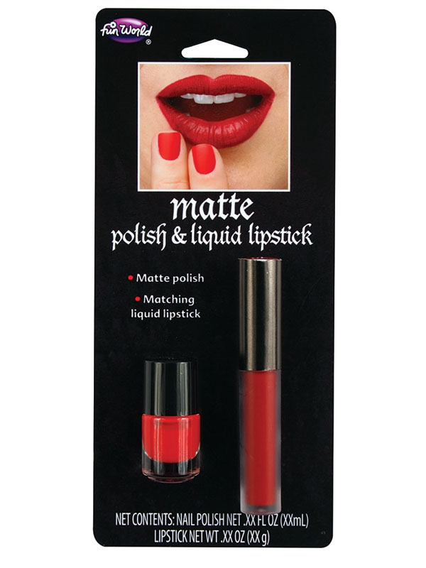 Matte Polish & Lipstick Red