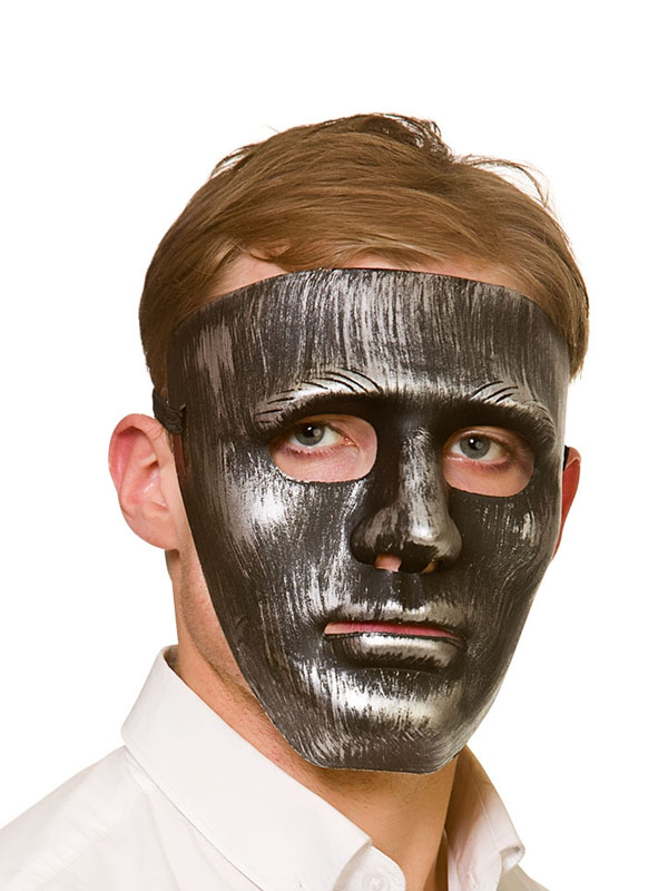 Adult Mens Robot Mask Antique Silver