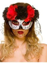 Adult Ladies Day Of The Dead Eyemask With Veil