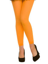 Footless Tights Neon Orange