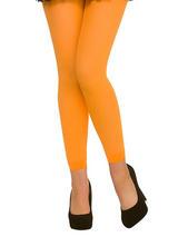 Footless Tights Neon Orange