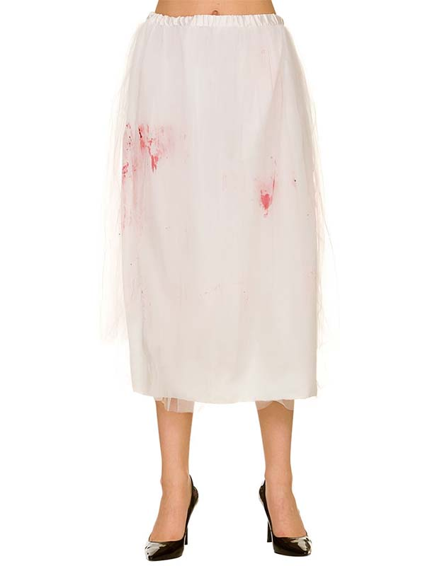 Zombie Bride Skirt With Blood